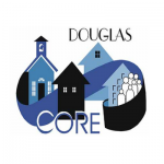 Cartoon like logo for Douglas Core community partnership